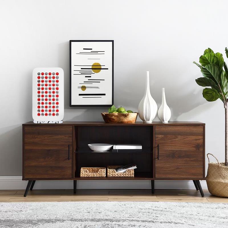 Thoughtfully-designed-dark-TV-stand